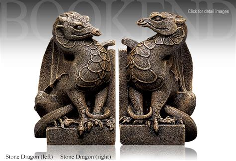 dragon bookends windstone editions stone dragon bookends set 1002l 1002r