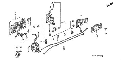 tech lock clip need help identifying a part door lock rod clip honda