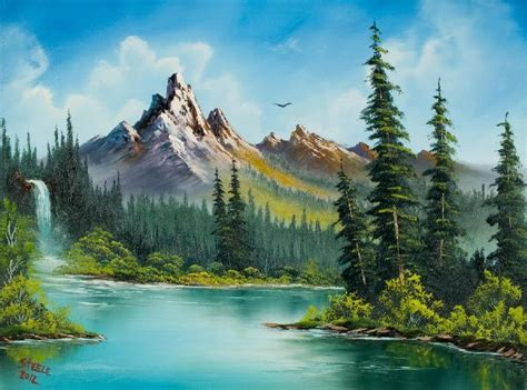 bob ross painting free best 25 bob ross paintings ideas on