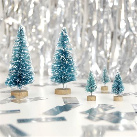 small pink christmas trees by peach blossom