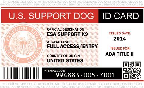 Official Emotional Support Dog Vest Service Dog Vest And Id Card Kits Emotional Support Id Template