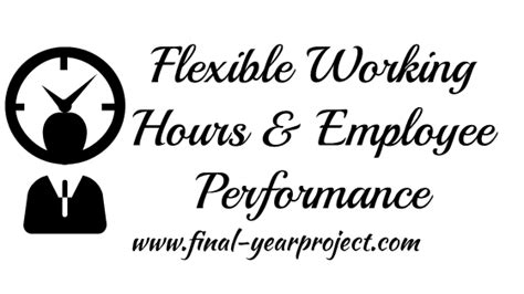 Mba Working Time by Mba Project On Working Hours And Employee