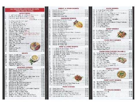 takeaway menu 1 foto di panda garden ruthin tripadvisor