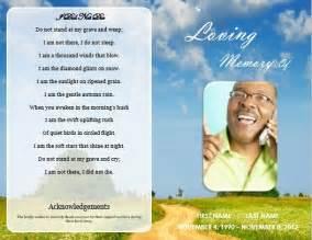 memorial handout template 73 best printable funeral program templates images on