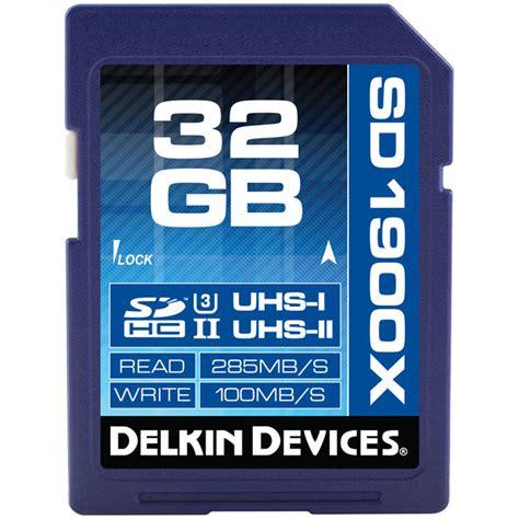 delkin devices 32gb uhs ii sdhc memory card u3 ddsd190032gb
