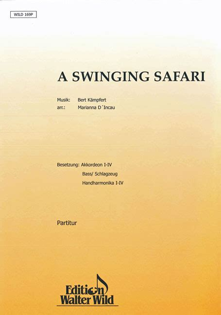 swinging safari song a swinging safari stimmensatz noten gibt s bei uns