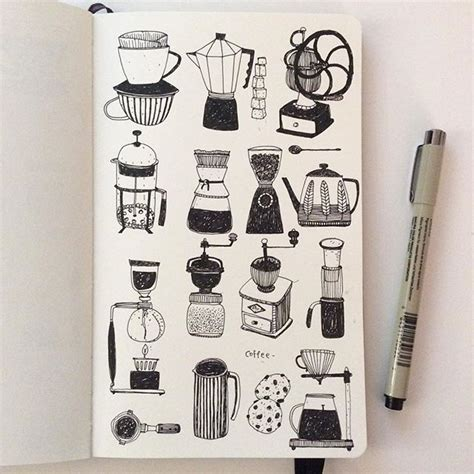 sketchbook sizes best 25 coffee illustration ideas only on