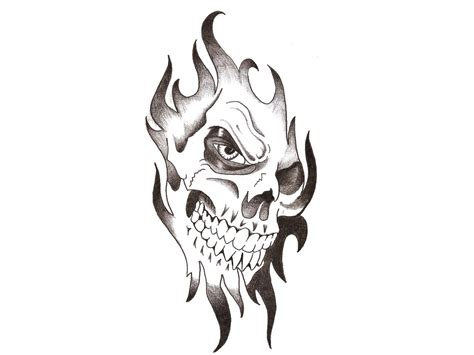 evil clown skull with dice tattoo design photo 2 real