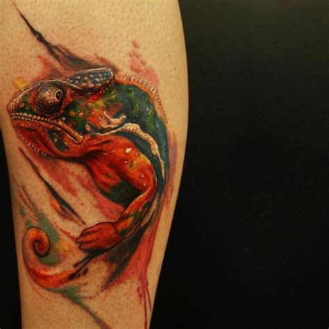 60 colorful chameleon tattoo ideas designs that will
