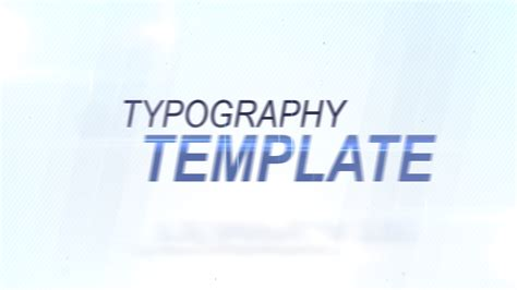 after effects typography template clean typography