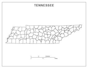 Tennessee Map Counties by Tennessee Blank Map