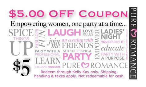 coupon pure romance by brittany mudgett 509 322 0653