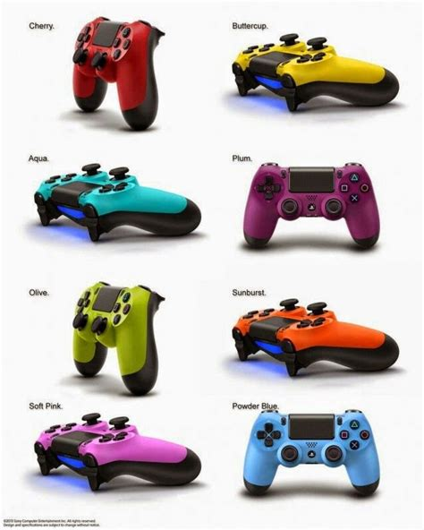 dualshock 4 colors dualshock 4 controller in every colour of the rainbow for