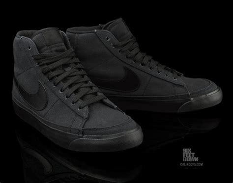 Nike Blazer Black Made In nike blazer mid black canvas