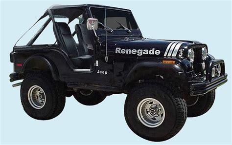 1995 Jeep Renegade Graphix 1970 1995 Jeep Renegade Decal Kit