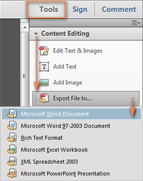 convert pdf to word using adobe acrobat dc microsoft excel 2003 export to pdf download online show