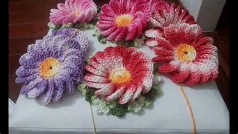 flores de crochet c 243 mo tejer flores en crochet youtube