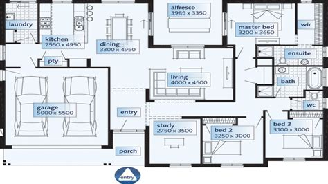 Floor Plan Single Storey House | single story house floor plans single floor house plans