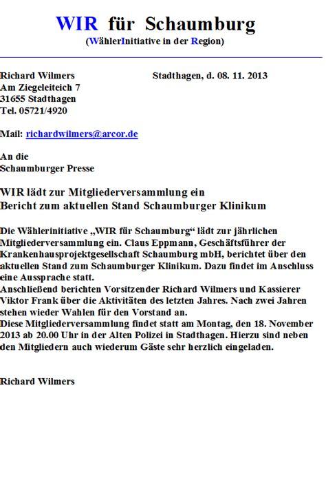 Muster Einladung Zur Ordentlichen Mitgliederversammlung Einladung Zur Mitgliederversammlung 2014
