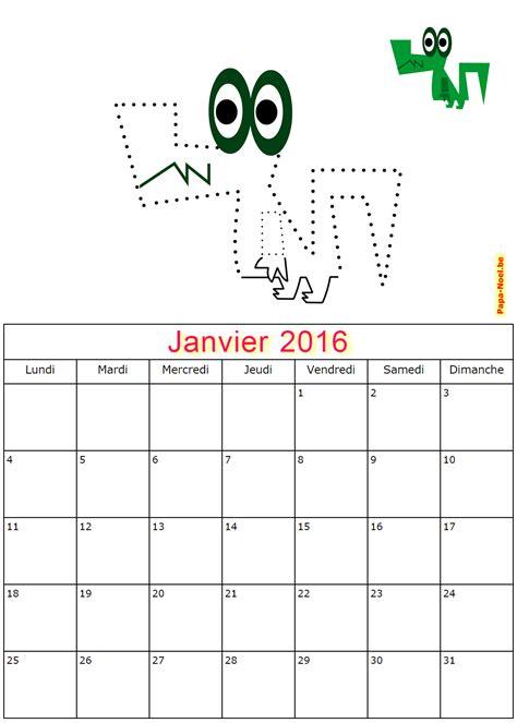 Calendrier 6 Janvier Calendriers De Janvier 2016 224 Imprimer Gratuitement