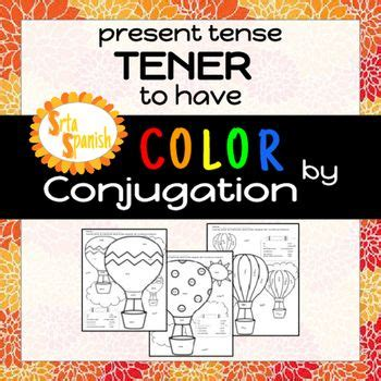 Credit Verb Form color by conjugation tener to verb forms and