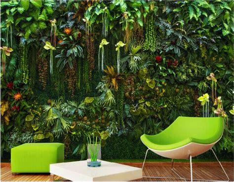 home decor wall murals custom mural 3d wallpaper rainforest flowers plant leaves