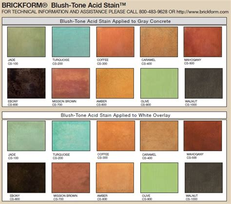 adventures in color washing colors cement and color charts 17 best acid stain color charts images on pinterest acid