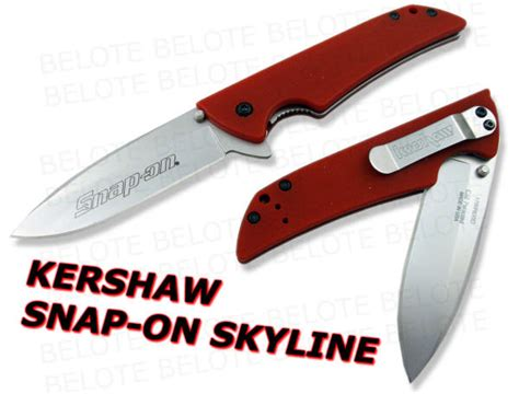 snap on kershaw knife kershaw snap on skyline g 10 plain edge 1760rd new ebay