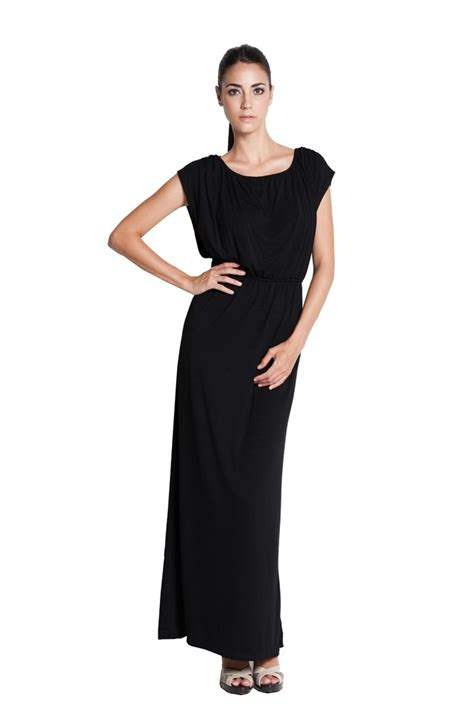 Chiggo Maxi 4 By Rn elastic waist maxi nursing dress in black by dote