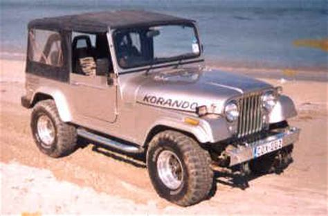 Foreign Jeep Ssangyong Korando Cj 7 Clone Manufactured In Korea Foreign