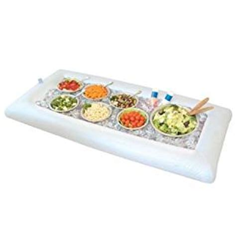 amazon com greenco inflatable buffet and salad serving