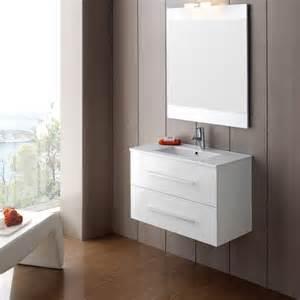 meuble salle bain blanc meuble salle de bain ancomalin 80 suspendu blanc