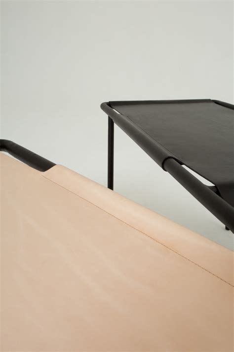 design milk leather isola a leather coffee table by pierre emmanuel
