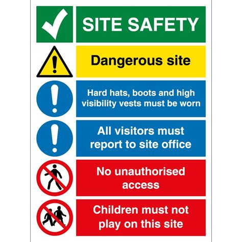 construction site safety signs from key signs uk