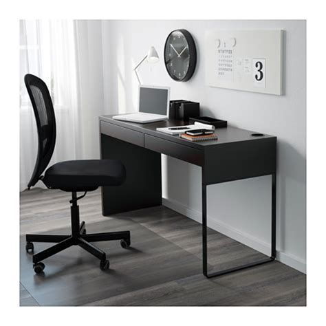 MICKE Desk Black brown 142x50 cm   IKEA