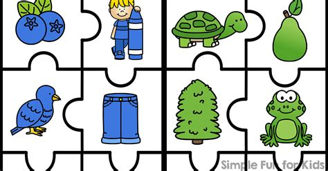printable matching puzzle games 6 piece color matching puzzles simple fun for kids