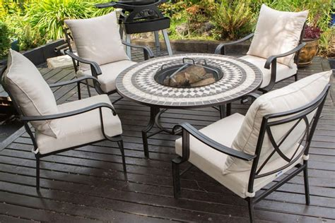 firepit table set pit garden furniture sets garden trends