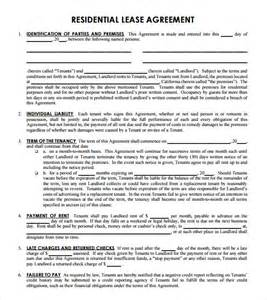 Exle Of Lease Agreement Letter Lease Agreement 8 Free Sles Exles Format Sle Templates