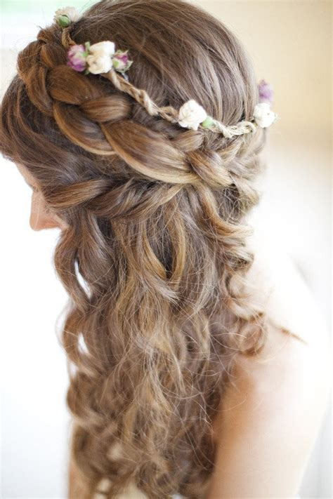 Curly Half Up Half Hairstyles Curly Hairstyles For Prom Half Up Half Twist 2017