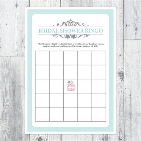 bridal shower bingo templates bridal shower bingo printable card