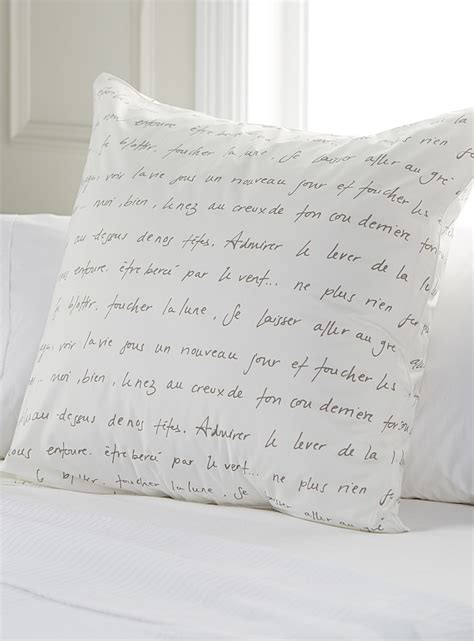 bed skirts and pillow shams sweet words euro pillow sham simons maison shop bed