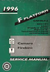 service manual automotive service manuals 1996 pontiac firebird parental controls service 1996 chevrolet camaro pontiac firebird factory service manual 2 volume set
