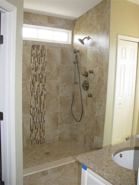 incredible fiberglass shower stalls decorating ideas gallery in bathroom modern design ideas photos hgtv blue mosaic tile spills from shower onto floor