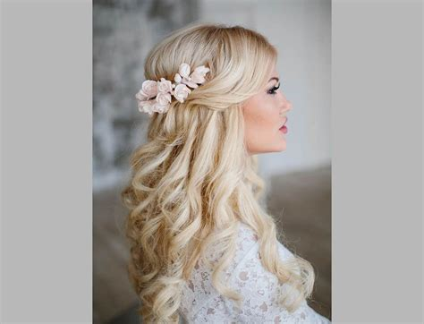wedding hairstyles half up half with curls - Wedding Hair Half Up Half Curls