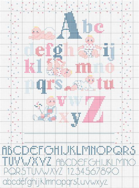schemi di lettere a punto croce punto croce schemi dell alfabeto blogmamma it