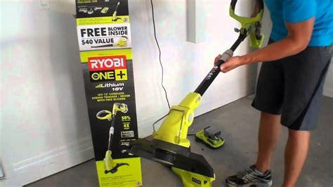 ryobi one plus weed eater and blower combo good and bad review youtube