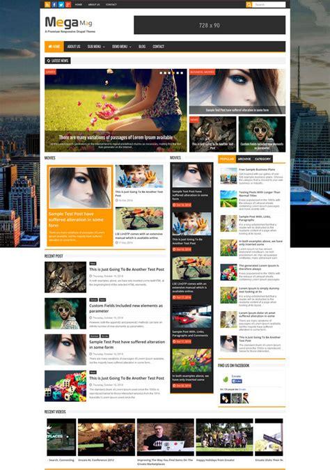drupal themes responsive blog 10 cms drupal responsive themes for blog magazine
