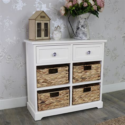 Wicker Storage Drawers Bathroom Wood Wicker 6 Drawer Basket Chest Of Drawers Bedroom Bathroom Storage Ebay