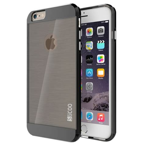 Armor Electroplate Glossy Iphone 66s Plus Black sunsky slicoo brushed texture electroplating combination