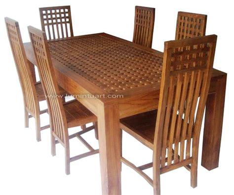 Meja Makan Jati Jepara 6 Kursi set meja kursi makan minimalis balero kotak kayu jati